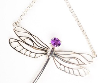 Sterling silver dragonfly pendant/chocker