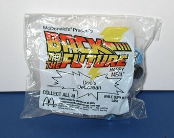 1992 McDonald's Back to the Future Cartoon Toy, Doc Brown's Delorean
