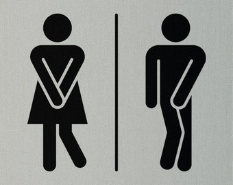 Funny toilet sign!