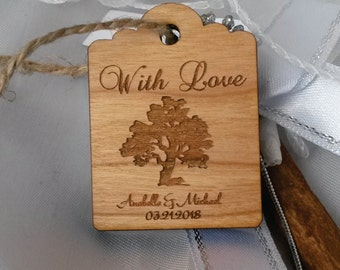 Wood wedding tag (50)/ tree of life tag / gift tag / wedding favor tag / wooden tag