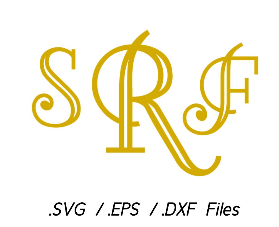 Monogram font vectors by vectorsdesign on etsy