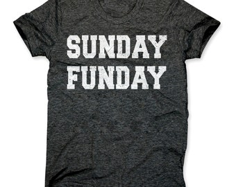 Sunday Funday Shirt - Funny Sunday Funday Party T-Shirt - Sunday Funday College Drinking Tee
