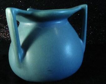 Rare 1917 Rookwood Blue Three Handle Vase # 354