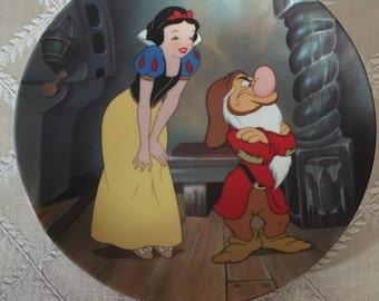 "Disney's Snow White ""Stubborn Grumpy"" Collectible Plate"
