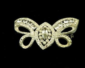 """Rhinestone """"Butterfly Bow"""" brooch, 1940's"""