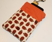 Woodsy Hedgehog Pals Padded IPod/IPhone or Camera Case -- w/Lobster Hook & Lined Pocket