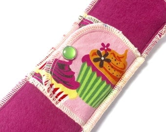 Organic Limited Edition Extra Absorbent Moonpads Cotton Reusable Cloth Menstrual Pads - Cupcakes