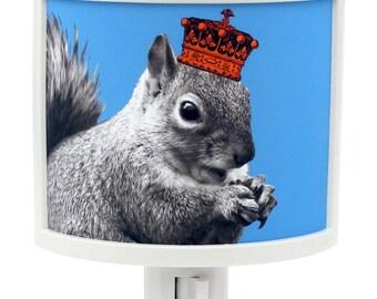 Squirrels Rule Night Light  in crown Cute Nursery Bathroom hallway Bedroom GET IT nightlight Nite Lite
