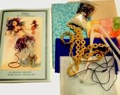 Pattern, Kit, Supplies, to make this MERMAID, TARJA, Cloth Dolls, Gifts, Diy, Michelle Munzone, bamboledesigns, fibers, trims, fabric, beads
