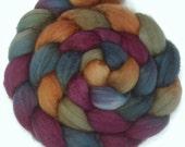 Handpainted Superwash BFL Nylon Wool 80/20 Sock Roving - 4 oz. RIVENDELL - Spinning Fiber