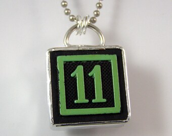 Number 11 Pendant Necklace