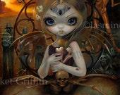 Unseelie Court: Famine dark fairy art print by Jasmine Becket-Griffith 8x10 angel of death skeleton