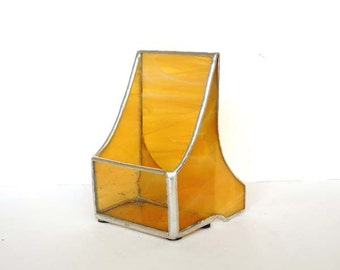 Stained Glass Vertical Business Card Holder