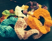 Set of 12 Hair Scrunchies Assorted Colors