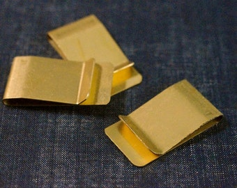 Money Clip Blanks - Raw Brass - 3pcs - Plain Money Clip, Stamping, Personalized Money Clip