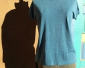 Vintage 1970s Mens TShirt Muscle Shirt Blue Mens 38 40 2014cin
