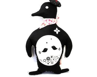 Black Penguin Plush Pillow