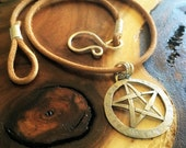 Stamped Pentagram Necklace
