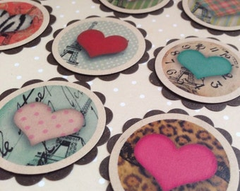 Lots of Hearts Tags Pack of 10