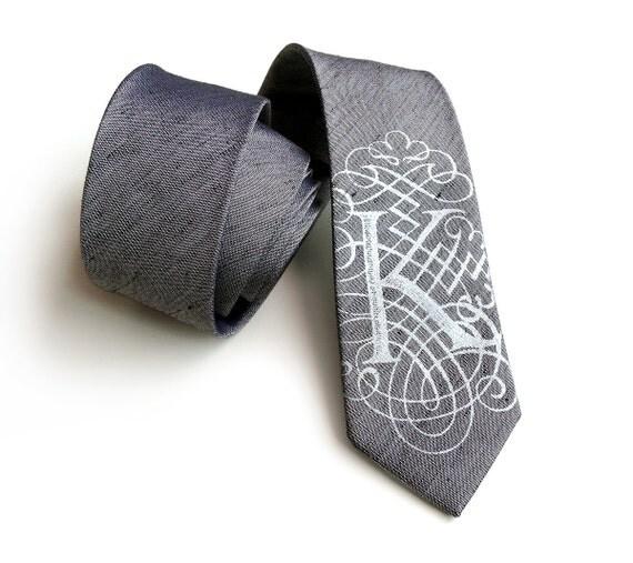 custom initial necktie