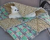 Cat Blanket, Catnip Blanket, Catnip Mat, Cat Nip Quilt, Cat Quilt, Fabric Cat Bed, Cat Napping Mat,  Travel Pet Mat,Luxury Cat Bed