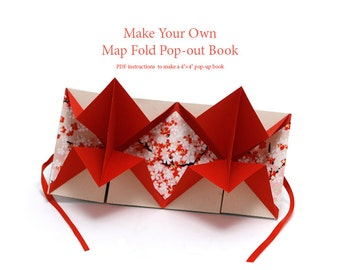 Digital Bookbinding Tutorial (PDF), DIY bookmaking instructions, pop out map fold pop up book, bookmaking or book binding or bookarts, gcp2