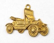 12mm Brass Model T Charm (4 Pcs) #2973