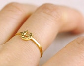 horseshoe ring . tiny horse shoe ring . lucky horseshoe stacking ring . stackable horseshoe ring . dainty rings