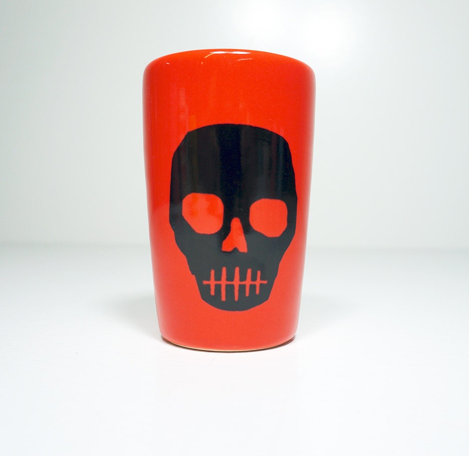 itty bitty cylinder voodoo skull - Made to Order / Pick Your Colour