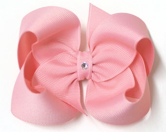 LIMITED EDITION - Light Pink Boutique Hair Bow, small, medium, large, extra large