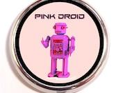 Pink Robot Pill Box Case Pillbox Pink Droid Humor Geek Nerd Sci Fi Robots Funny