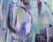 Art Print Abstract Modern Blue Ice Purple by David Lloyd