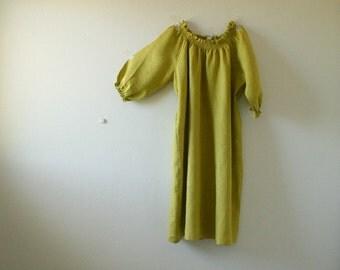 LINEN DRESS - w / citron / women linen clothing / wedding / smock dress / linen tunic / summer / flax / made in australia / pamelatang