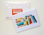 "Pack of 10 assorted ""My Ideal Bookshelf"" book Postcards"