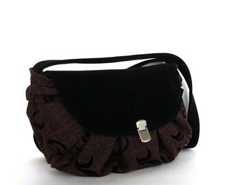 Small vegan purse with flap , burgndy shoulder bag , vegan handbag, evening bag, handmade handbag , side bag , shoulder purse , Canada  shop