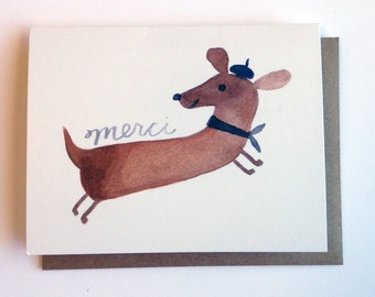 Merci Dog Card