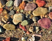 Lake Rocks, Montana Rocks, Colorful Rocks, Magical rocks, Autumn Colors, Photograph or Greeting card