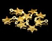 KG-130 thai karen hil tribes silver 8 gold vermeil mini die cut star shape charm 8.0 mm.