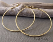 Hammered Brass Hoop Earrings, Gold Hoop Earrings, Natural Brass Earrings, Brass Jewelry, Hoop Earrings