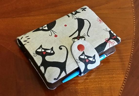 Cat Planner Cover Filofax Binder Pocket size Cover  case Purse size planner wallet cozy  Fabric organiser Filofax Domino personal