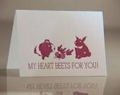 Letterpress Beets Valentines Card