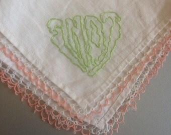 It's snot - hand drawn and embroidered on a vintage handkerchief