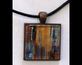 Pendant with Leather Band  Art, Jewelry, Necklace, Print, Karina Keri-Matuszak, Raw Art