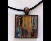 Pendant with Leather Band  Art, Jewelry, Necklace, Print, Karina Keri-Matuszak, Raw Art