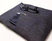 Men's Computer Case Laptop Computer Sleeve 11, 13 inch Laptop Sleeve, MacBook Air Sleeve - Black Denim