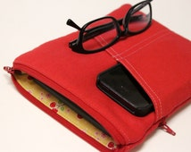 Women's Kindle Case Woman's eReader Nook Cover Girl's Fire GlowLight Paperwhite HDX Girls - Red Canvas