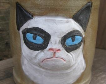 handmade Grumpy Cat mug