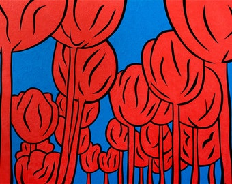 Tulip Pop - 11x14 matted print by Joel Traylor