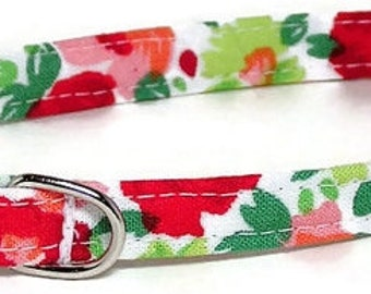 XS Dog Collar - Cheerful Floral Splash -  Extra Small, Teacup, Miniature - Cute, Pretty and Fancy