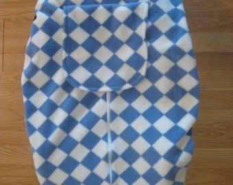 Purple diamond fleece infant car seat cover